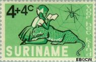 Suriname SU 431  1965 Kind en dier 4+4 cent  Gestempeld