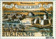 Suriname SU 481  1967 Vrede van Breda 10 cent  Gestempeld