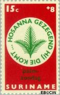 Suriname SU 491  1968 Pasen 15+8 cent  Gestempeld