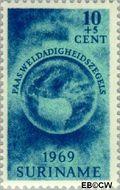 Suriname SU 511  1969 Paasgedachte 10+5 cent  Gestempeld