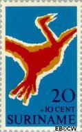 Suriname SU 531  1970 Symbolen 20+10 cent  Gestempeld