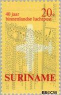 Suriname SU 541  1970 Eerste binnenlandse postvlucht 20 cent  Gestempeld