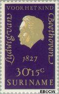 Suriname SU 551  1970 Componisten 30+15 cent  Gestempeld