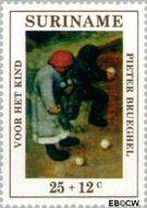 Suriname SU 571  1971 Kinderspelen 25+12 cent  Gestempeld