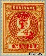 Suriname SU 61  1911 Hulpuitgifte ½ op 2 cent  Gestempeld