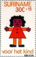 Suriname SU 611  1973 Kinderwereld 30+15 cent  Gestempeld