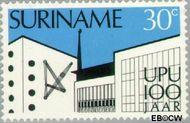 Suriname SU 631  1974 Wereldpostvereniging 30 cent  Gestempeld