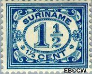 Suriname SU 71  1913 Drukwerkzegel 1½ cent  Gestempeld