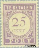 Suriname SU PT27  1913 Port 25 cent  Gestempeld
