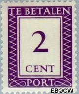 Suriname SU PT37  1950 Port 2 cent  Gestempeld