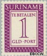Suriname SU PT57  1956 Port 100 cent  Gestempeld