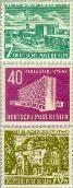 Berlin ber 121#123  1954 Gebouwen in Berlijn  Postfris