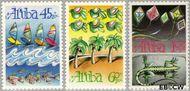 Aruba AR 83#85  1990 Vliegers  cent  Postfris