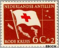 Nederlandse Antillen NA 293  1958 Rode Kruis en Ned. Antillen 6+2 cent  Gestempeld