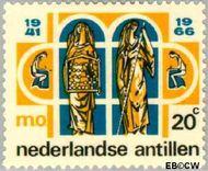 Nederlandse Antillen NA 374  1966 Middelbaar Onderwijs 20 cent  Gestempeld