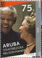 Aruba AR 339c  2005 Regeringsjubileum Koningin Beatrix 75 cent  Gestempeld