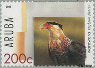Aruba AR 346  2005 Roofvogels 200 cent  Gestempeld