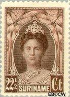 Suriname SU 123  1927 Gewijzigd jubileum-type 22½ cent  Gestempeld