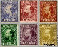 Nederland NL 7#12  1867 Koning Willem III- 3e emissie   cent  Gestempeld