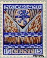 Nederland NL 211  1927 Provinciewapens 15+3 cent  Gestempeld