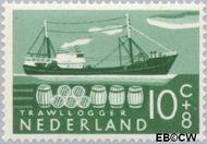 Nederland NL 691  1957 Schepen 10+8 cent  Gestempeld