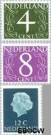 Nederland NL 774#776  1962 Proef fluorescentie   cent  Gestempeld