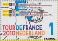 Nederland NL 2729  2010 Tour de France 1 cent  Gestempeld