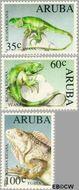 Aruba AR 128#130  1993 Bedreigde dieren  cent  Gestempeld