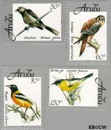 Aruba AR 213#216  1998 Vogels  cent  Gestempeld