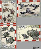 Aruba AR 306#309  2003 Schildpadden  cent  Gestempeld