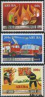 Aruba AR 366#368  2006 Brandweer  cent  Gestempeld