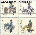 POR 1645#1648 Postfris 1985 Uniformen