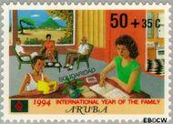 Aruba AR 140  1994 Solidariteit 50+35 cent  Gestempeld