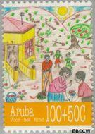 Aruba AR 170  1995 Kindertekeningen 100+50 cent  Gestempeld