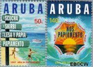 Aruba AR 188#189  1997 Jaar van het Papiamento  cent  Gestempeld
