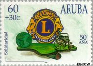 Aruba AR 211  1998 Lions en Rotary 60+30 cent  Gestempeld