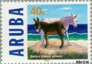 Aruba AR 221  1999 Ezels 40 cent  Gestempeld