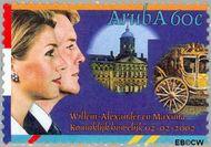 Aruba AR 281  2002 Huwelijk Alexander en Máxima 60 cent  Gestempeld
