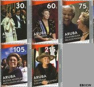 Aruba AR 339a#339e  2005 Regeringsjubileum Koningin Beatrix  cent  Gestempeld