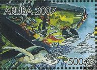 Aruba AR 380c  2007 Wrakken in het rif 500 cent  Gestempeld