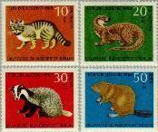 Berlin ber 316#319  1968 Wilde dieren  Postfris