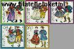 Bundesrepublik BRD 1696#1700  1993 Klederdrachten  Postfris