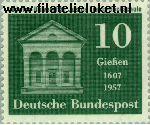 Bundesrepublik BRD 258#  1957 Universiteit Giessen  Postfris
