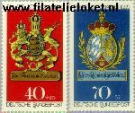 Bundesrepublik BRD 765+767  1973 Postzegeltentoonstelling IBRA München  Postfris