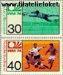 Bundesrepublik BRD 811#812  1974 WK Voetbal  Postfris