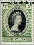 Gibraltar gib 133  1953 Koningin Elizabeth- Kroning  Postfris