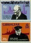 Gibraltar gib 319#320  1974 Churchill, Sir Winston  Postfris