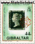 Gibraltar gib 601#  1990 Postzegeljubileum  Postfris