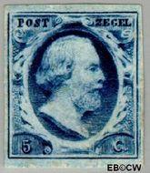 Nederland NL 1  1852 Koning Willem III- 1e emissie 5 cent  Gestempeld