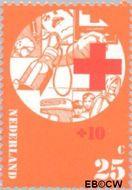 Nederland NL 1017  1972 Rode Kruis 25+10 cent  Gestempeld